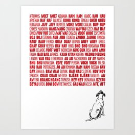 It's a dog's world Art Print