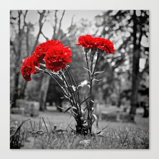 Graveyard decoration Canvas Print
