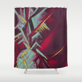 Pineapple Abstraction Shower Curtain