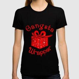 Gangsta Wrapper Christmas Holiday Gift Design T-shirt