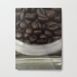 Coffee beans in glass Jar - fine art - still life - interior decoration, for bar & coffeehouse,  #1 Metal Print