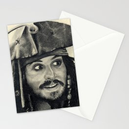 Captain Jack Sparrow ~ Johnny Depp Traditional Portrait Print Stationery Cards