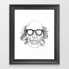 My best friend, Death Framed Art Print