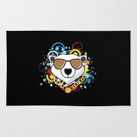 hip hop Area & Throw Rugs featuring Hip-Hop Polar Bear by &joy