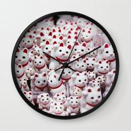 maneki neko cats Wall Clock