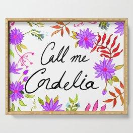 Call Me Cordelia - Purple Flowers Serving Tray