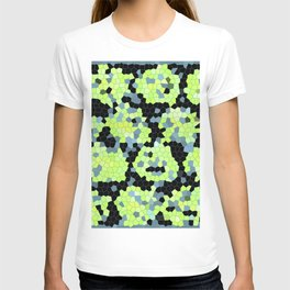 Cell Print Home Decor Graphic Design Pastel Colors Green Grey Blue Black Mint Lime Kiwi T-shirt