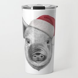 Christmas pig Travel Mug