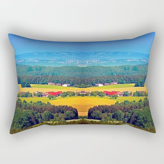 Summer scenery with lots of green and blue Rectangular Pillow