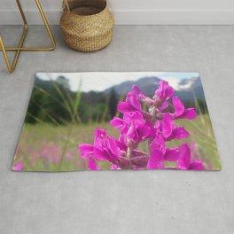 Watercolor Flower, Purple Locoweed 01, Endovalley Meadow, RMNP, Colorado Rug