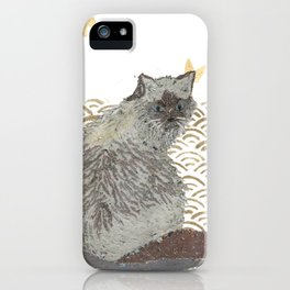 CAT, SEIGAIHA iPhone Case