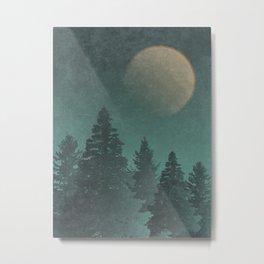 Wild Night Pines: Rustic Outdoor Landscape  Metal Print