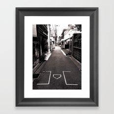 Best alley in Tokyo. Framed Art Print