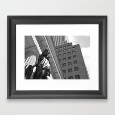 Statue/New York/President/Wall Street Framed Art Print