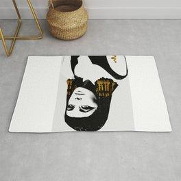 black & gold Cleo Rug