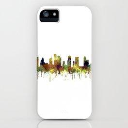 Houston Texas Skyline SG - Safari Buff iPhone Case