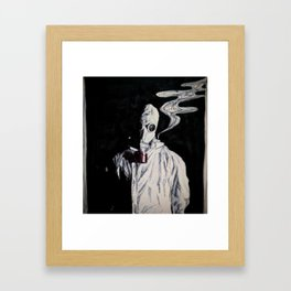 Like a Hazmat, With a Gas Mask Framed Art Print