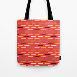 Modern Scandinavian Dash Red Tote Bag