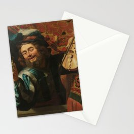 renaissance art, man with the violin Stationery Cards