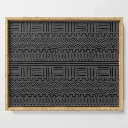 Mud Cloth on Linen Serving Tray