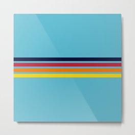 Classic Multicolor Retro Stripes Metal Print