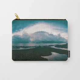Seashore-under-grey-sky Carry-All Pouch