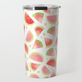 Pink & Gold Watermelon Slices Travel Mug