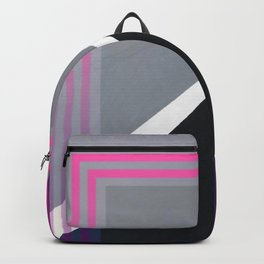 London - pink graphic Backpack