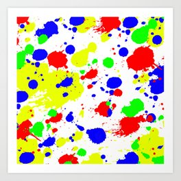 Colorful Paint Splatter. Art Print