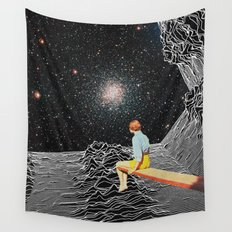 unknown pleasures to Infinity Wall Tapestry