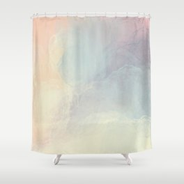 Iridescent Pastels - Innocent Soft Abstract Painting Shower Curtain