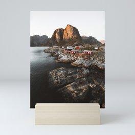 Fisherman Village, Lofoten Islands, Norway Mini Art Print