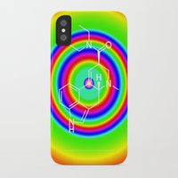 lsd iPhone & iPod Cases featuring LSD rainbowdrops by moleculestore