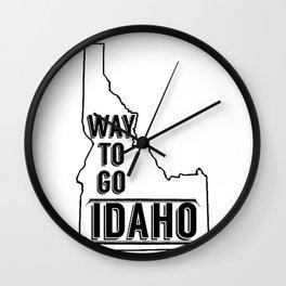 Way To Go Idaho Wall Clock