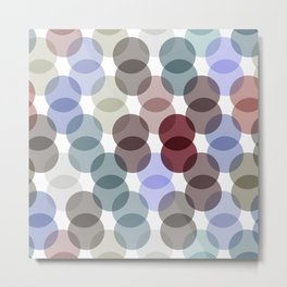 Polka dot pattern. dot on white background Metal Print