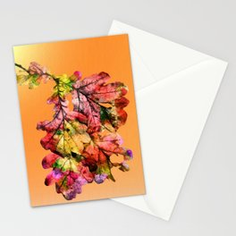 Oak Leaves Stationery Cards