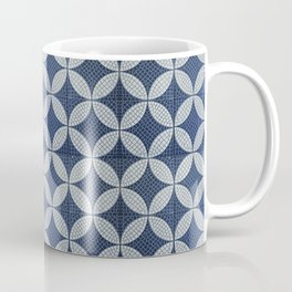 Mid-century blue tiles pattern - The atomic era  Coffee Mug