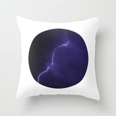 Planetary Bodies - Lightning Throw Pillow