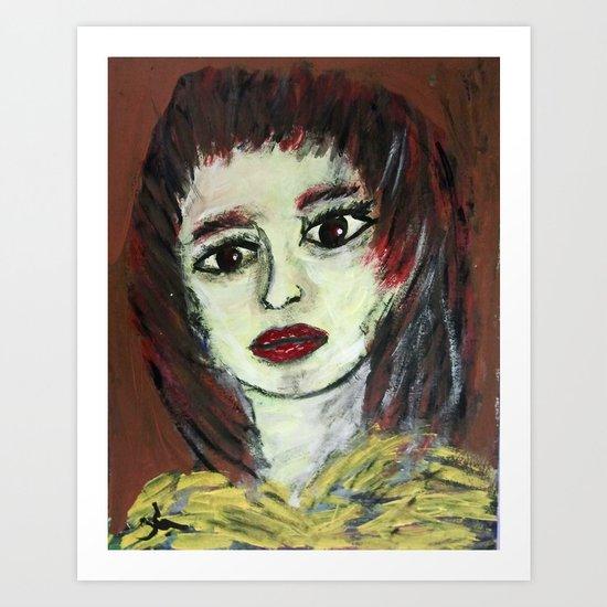 THE WORRIED GIRL Art Print