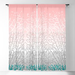 Colorful Branching Coral Blackout Curtain