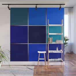 Cobalt , patchwork Wall Mural