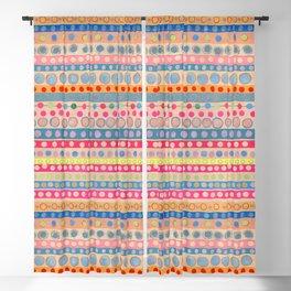 Fusion Multi Dots & Stripes #2 Blackout Curtain