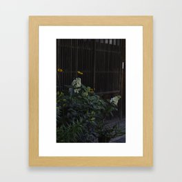 White Hydrangea and Yellow Daisies in The Kiso Valley Japan Framed Art Print