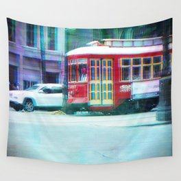 Streetcar on Canal Street Wall Tapestry