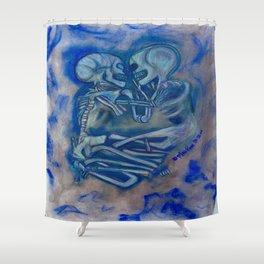 Eternal Embrace -blues Shower Curtain