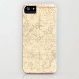 Burritt's Constellations (July, August, September) (1856) iPhone Case