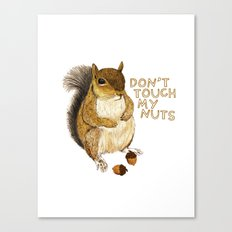 Irreverent Squirrel Canvas Print
