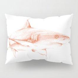 Shark Illustration - Pointillism Japanese-Inspired Art by Design by Cheyney Pillow Sham