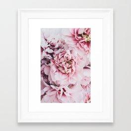 Pink Blush Peonies Framed Art Print