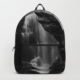 Black and white waterfall long exposure Backpack